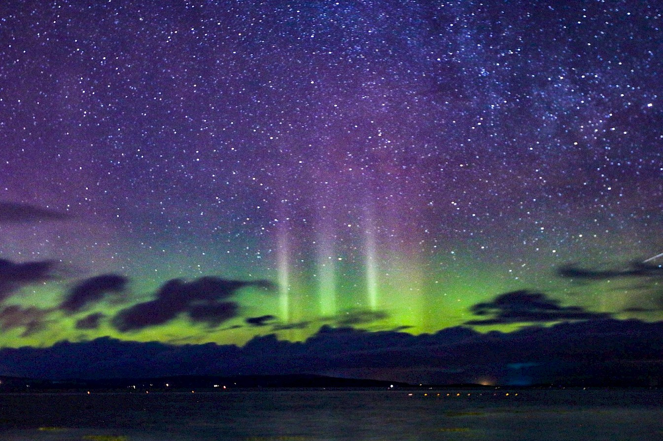 Northern Lights over Kirkwall Bay - image by Graham Campbell