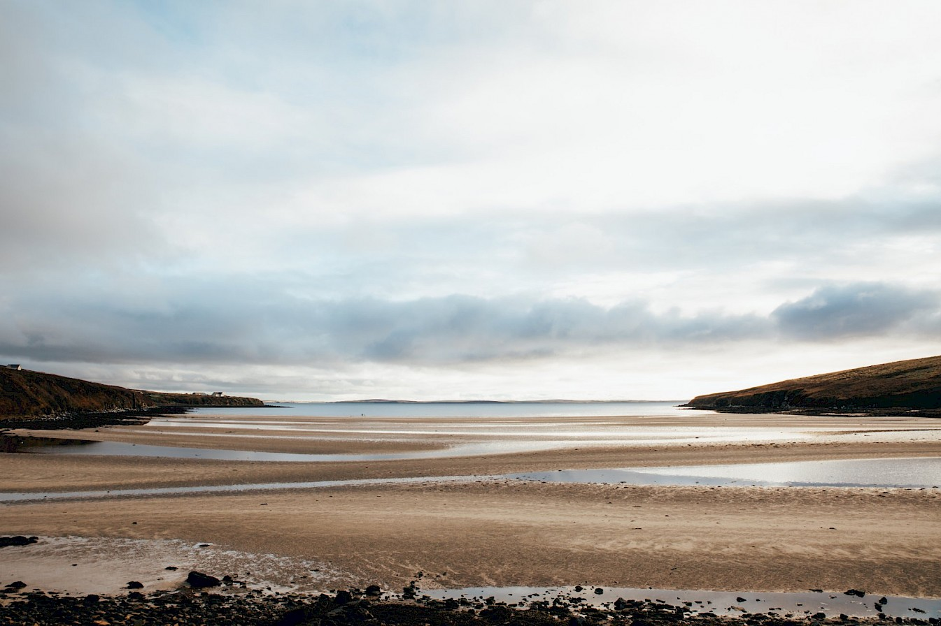 View of the beach at Waulkmill, Orkney