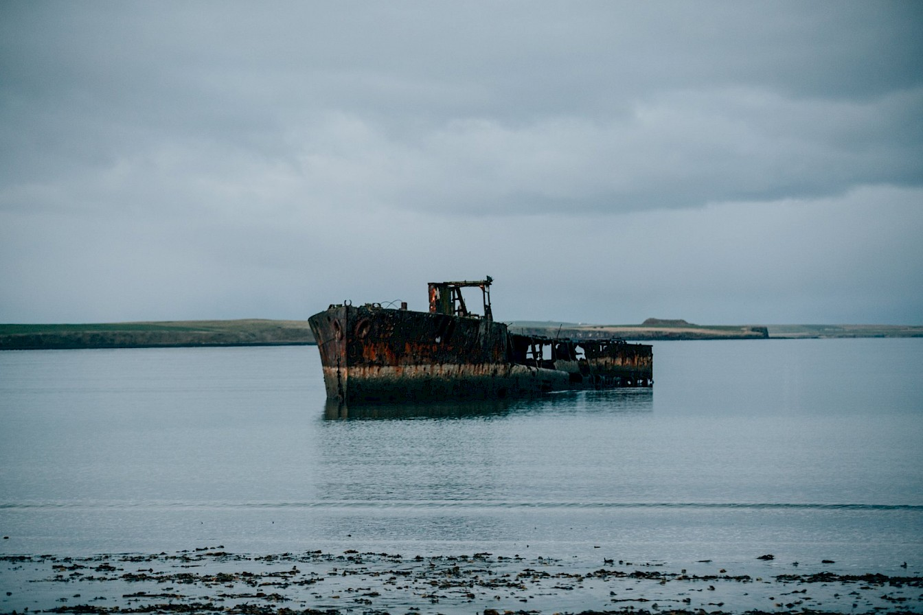 The wreck of the Juniata at Inganess, Orkney
