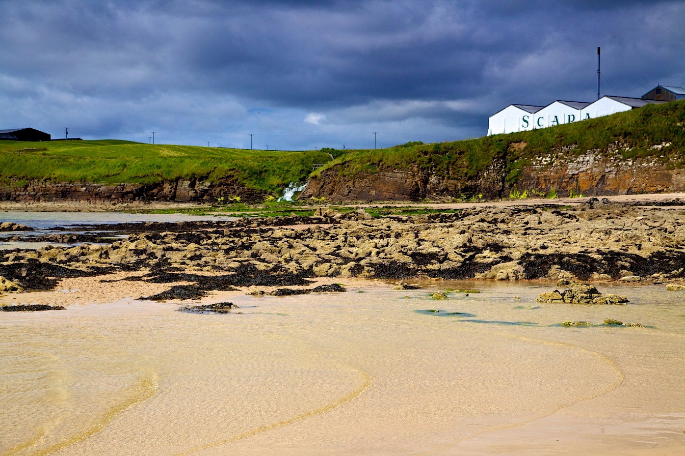View of Scapa beach, Orkney - image by Colin Keldie