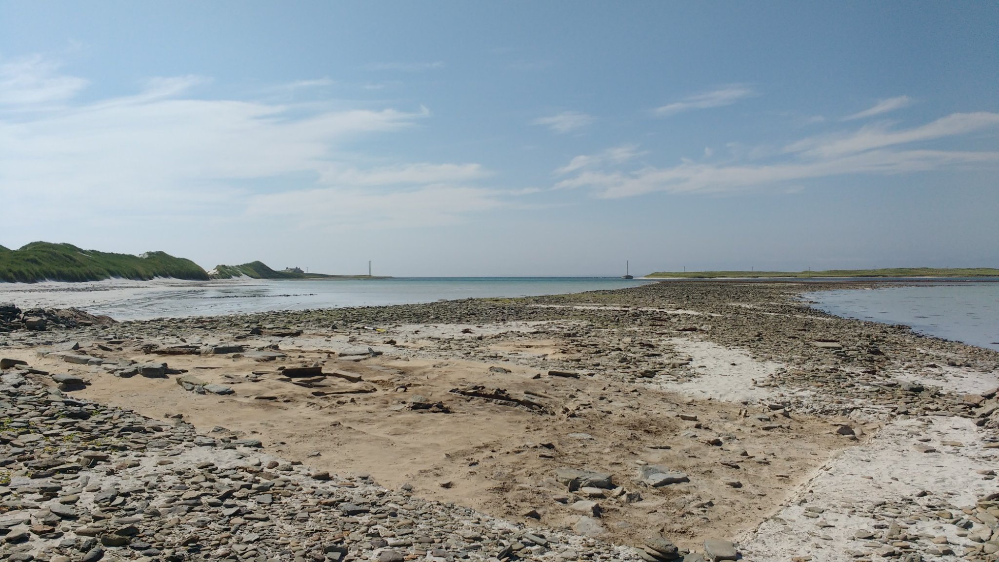 The stunning location of the Cata Sand excavation - image courtesy Archaeology Institute UHI