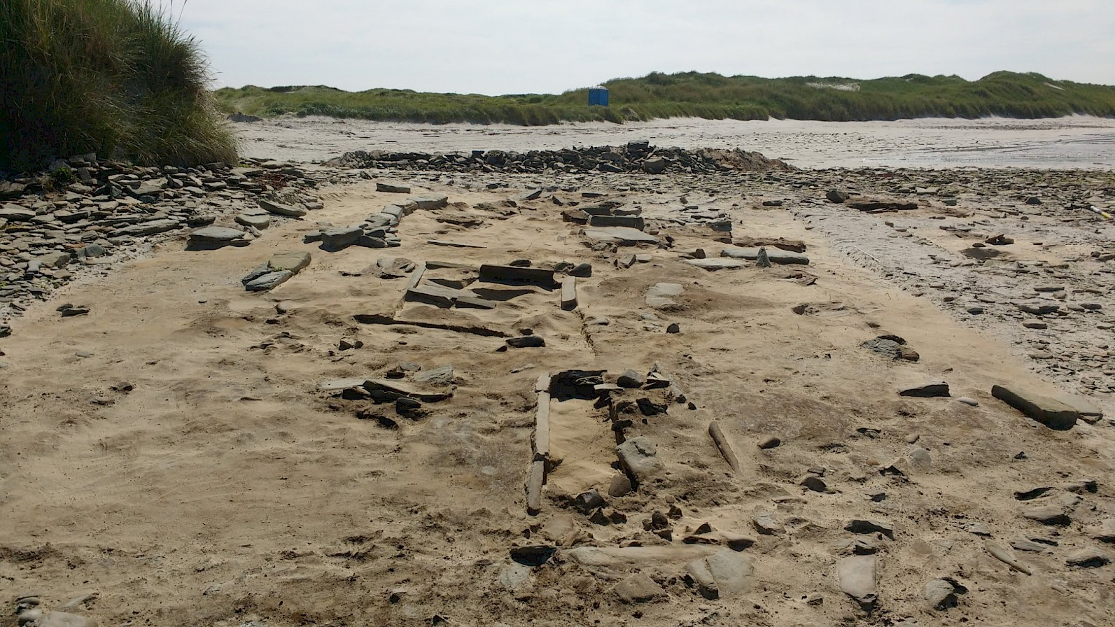 The main dig site at Cata Sand, Orkney - image courtesy Archaeology Institute UHI