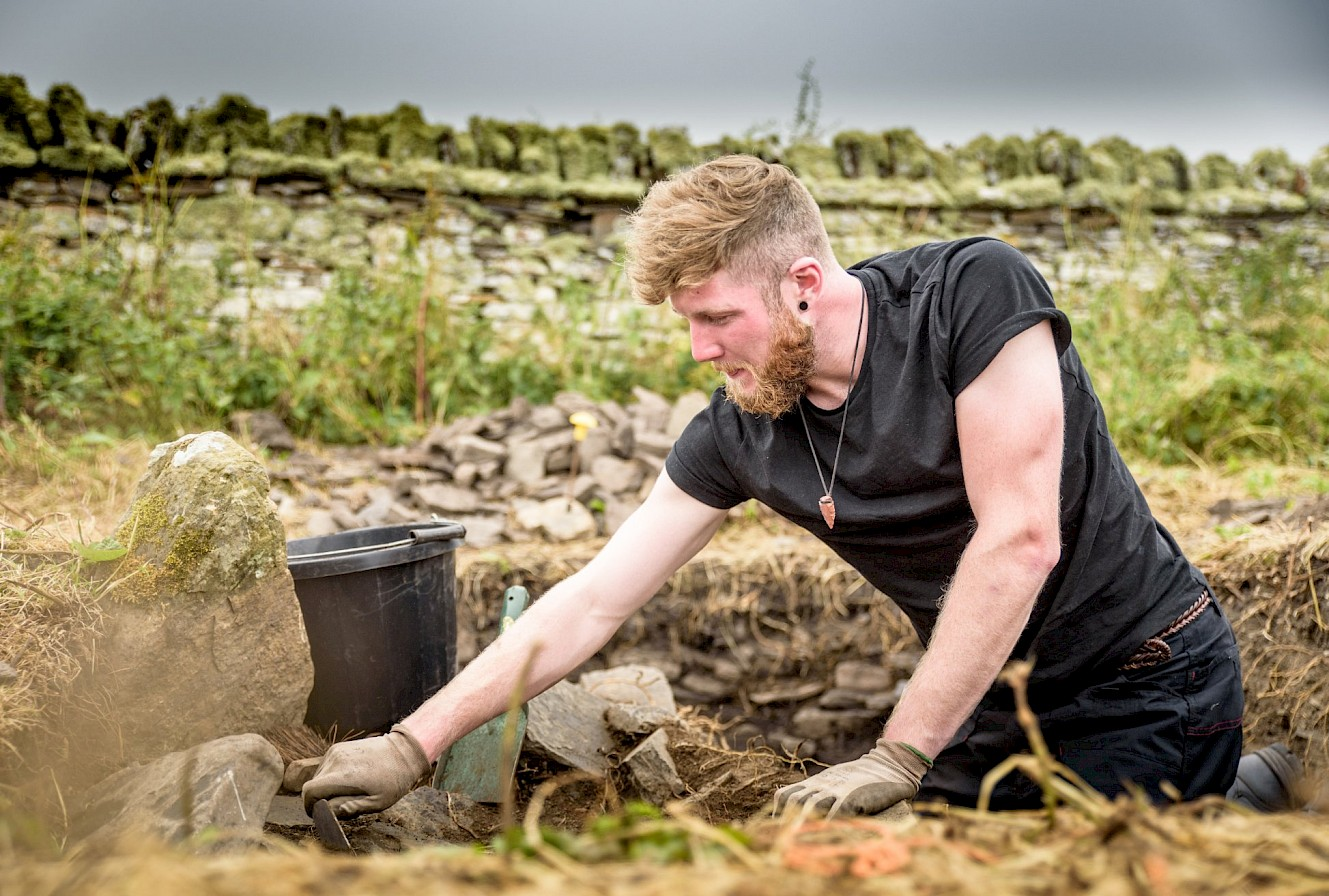 Digging underway at Skaill Farm, Orkney - image courtesy Archaeology Institute UHI
