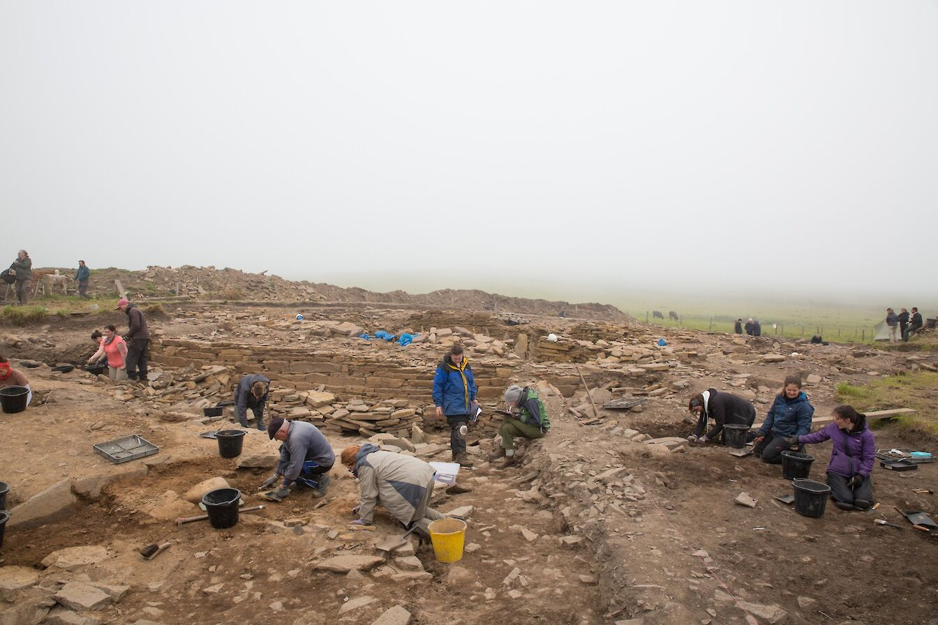 View of the dig at The Cairns