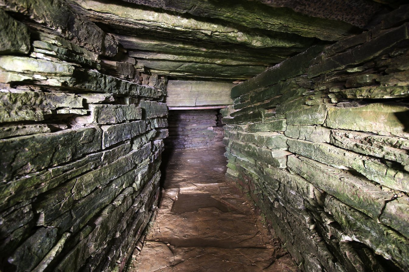 Entrance passage at Cuween Hill Chambered Cairn